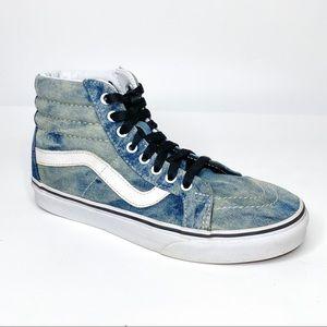 Vans SK8 Hi Reissue Acid awash Denim Skate Sneaker